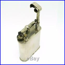 Vintage Dunhill Giant Large Silver Plate Lift Arm Jumbo Table Lighter CLEAN