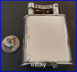 Vintage Dunhill Silver Plate Table Lighter- Look