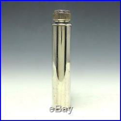 Vintage Dunhill Silver Plated LIGHTER FILLER Petrol Lighter Fluid Dispenser Can