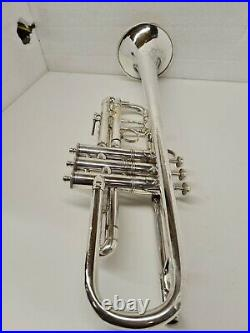 Vintage E. K Blessing Union Label Trumpet #2081 Silver Plated