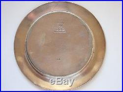 Vintage Elkington Coaster 1924 Hong Kong Shanghai Hotels, Silver Plate 32140