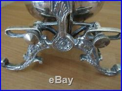 Vintage English Victorian Style Silver Plate Biscuit Bun Waffle Warmer Heavy
