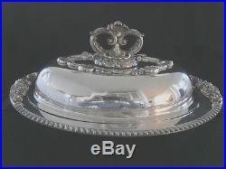 Vintage Eton Sheffield Silver Plated Over Copper Entree Server