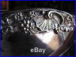 Vintage F B Rogers Silver Co 1883 PUNCH BOWL & 9 Cups Silverplate