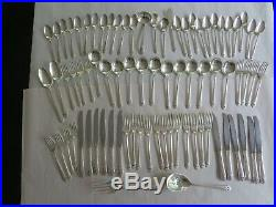 Vintage Flatware Set for 12 Holmes & Edwards Inlaid Silverplate Lovely Lady 1937