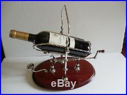 Vintage French L'espirit & Vin /Paris Silver Plated Wine Bottle Cradle or Holder