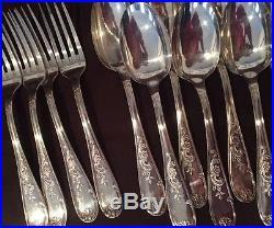 Vintage French Silver Plate Flatware Metal Blan 84g 18g EB hallmark set of 26