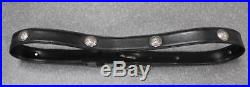 Vintage Gianni Versace Silver Plate Medusa Studded Leather Belt Size 34-38