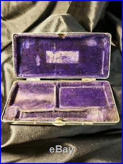Vintage Gillette Fancy Razor Case Silverplate, Fancy Razor. Complete Set