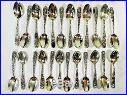 Vintage Godinger Olde Bouquet Silver Plate Flatware 65 Pieces