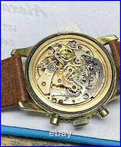 Vintage Gold Plate Breitling Navitimer 806 Pilot Chronograph Watch