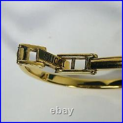 Vintage Gucci 1100 Gold Plated Womens Bangle Watch 10 Interchangeable Bezels