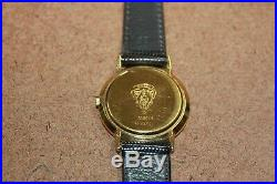 Vintage Gucci 18k Gold Plated Men's Stripe Dial Swiss Quartz Watch 3000M 060WEI