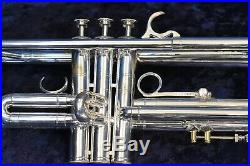 Vintage Henri Selmer Paris Radial Trumpet Silver Plate withcase and mouthpiece