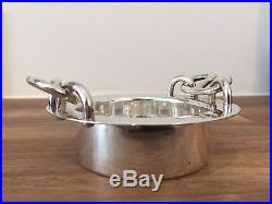 Vintage Hermes Chain D'ancre Silver Bowl / Plate