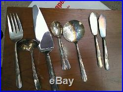 Vintage Holmes & Edwards Youth pattern service for 12 silverware & hostess set