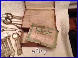 Vintage International Silver co. 61 pcs. Manor Plate Triple IS Silverware Rose