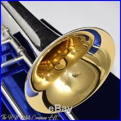 Vintage King H. N. White 2B Liberty Trombone Legend Original Silver Plate