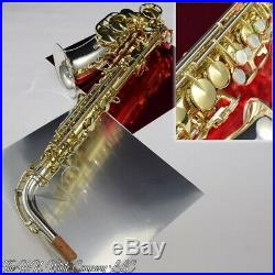 Vintage King H. N. White Zephyr Eb Alto Saxophone Silver Plated Bell and Neck