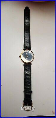 Vintage Le Must De Cartier Argent Quarz 925 Silver. Gold Plated 20 Micron Watch