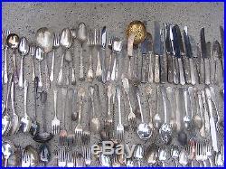 Vintage Lot 300 Pieces Silver Plated Flatware large assortment