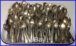 Vintage Lot 300 Silverplate Flatware Tea SPOONS Teasoons Crafts Jewelry Art