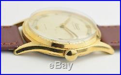 Vintage MINERVA Chronometer, Bifora Cal. 120, Gold plated, 60's men's wristwatch
