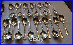 Vintage Mappin & Webb silver plated cutlery 73 pieces stamped with makers mark