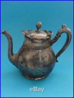 Vintage Meriden B Company Quadruple Teapot #2001 7 H