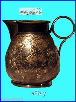 Vintage Meriden B Company Teapot Creamer And Sugar 1890