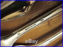 Vintage Mid Century Modern Danish Silver Plate Frigast Farina Cutlery set 48pce