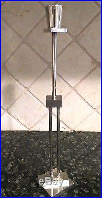 Vintage Mid Century Modern Ettore Sottsass Candlestick Silver Plate Swid Powell