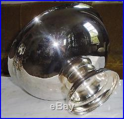 Vintage Mid Century Modern Silver Plate Punch Bowl Set with 12 Cups Signed Towle