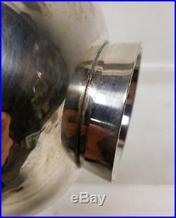 Vintage Mid Century Modernist Silver Plate Bowl Ward Bennett Designs Dish