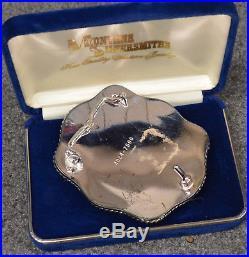 Vintage Montana Silversmiths 1889-1989 Centennial Belt Buckle Silverplate & Coin