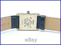 Vintage Must De Cartier Vermeil Tank Quartz 23.5mm Gold Plated Art Deco