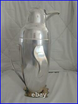 Vintage Napier Silver Plate Figural Penguin Cocktail Shaker