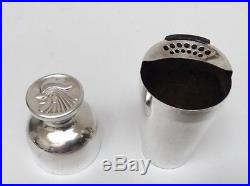Vintage Napier Silver Plate Personal Cocktail Shaker WithRooster Lid 4 Available
