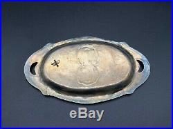 Vintage Navajo Austin Ike Wilson Stampwork Sterling Silver Plate or Tray