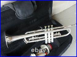 Vintage OLDS Super Star Trumpet Ultra Sonic Fullerton Silver Plated