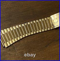 Vintage OMEGA 70s Gold Plated Watch Bracelet 1283/247 18mm End Links Included