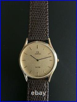 Vintage Omega De Ville Quartz 1377 Gold Plated ETA 959.001 Excellent Condition