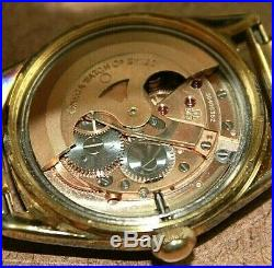 Vintage Omega Gold Plated 17J Cal. 563 Mens Automatic Stretch Band Watch 02WEI
