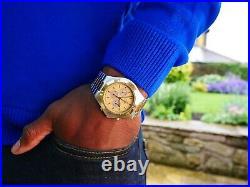 Vintage Omega Speedmaster Teutonic Men's Wrist Watch Gold Plated 1980's German
