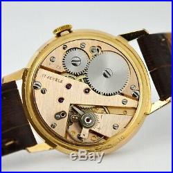 Vintage Original Renis Mint Rare Gold Plated Manual Wind Gents Watch Swiss Made