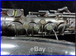Vintage Original Silver Plate C. G. Conn 6M Naked Lady Alto, Serial #310920