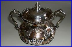 Vintage PAIRPOINT MFG Silverplated Coffee Tea Set 4 Piece 1880 1929 Creamer +