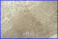 Vintage POOLE Silver Co. HUGE ornate tray, platter, silver plate, large, big
