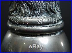 Vintage Pair Gucci Italy Silver Stirrup Cup Barware Set Elk Stag Antler Head 774