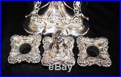 Vintage Pair of Silver Candelabras Sheffield or Queen Elizabeth II